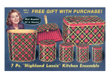 Seven Piece Tartan Kitchen Ensemble Posters