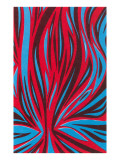 Psychedelic Pattern of Red and Blue Posters