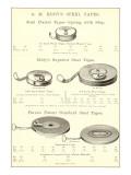 Werbeplakat für Maßbänder aus Metall Kunstdruck