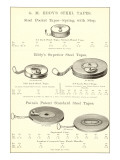 Advertisement for Steel Measuring Tapes Poster