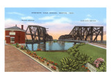 Mississippi Bridges, Memphis, Tennessee Prints