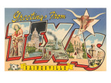 Greetings from Gainesville, Texas Print