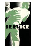 Tennis Service Poster Prints