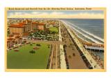 Beach Boulevard, Hotel Galvez, Galveston, Texas Posters
