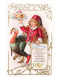 Menu, Girl with Fez and Turkey Prints