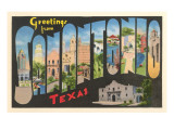 Greetings from San Antonio, Texas Art
