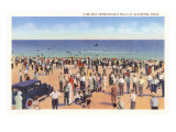 Beach Scene, Galveston, Texas Poster