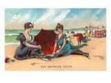 Victorianos en la playa Pósters
