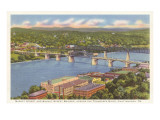 Walnut Street Bridge, Chattanooga, Tennessee Posters