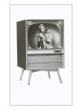 Television set with Flute Player Prints