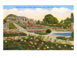Gardens, Rock Springs Park, Fort Worth, Texas Prints
