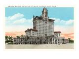Hotel San Luis, Galveston Beach, Texas Affiches
