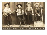 Greetings from Nashville, Child Hillbilly Musicians Posters