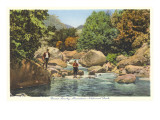 Fishing in Great Smoky Mountains Prints