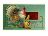 Thanksgiving Greetings, Turkey Print