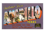 Greetings from Amarillo, Texas Print