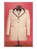 White Tuxedo Coat Poster