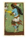 Buffalo Dance, Santa Fe Fiesta Illustration Posters