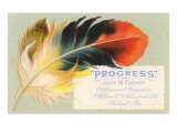 Victorian Multi-Colored Feather Print