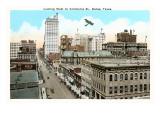 Commerce Street, Dallas, Texas Poster