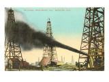 Oil Gusher, Beaumont, Texas Posters