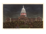Night, State Capitol, Austin, Texas Prints