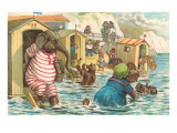 Animals in Bathing Machines Posters
