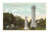 Chickamauga Battlefield Monument, Chattanooga, Tennessee Print