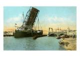 Bascule Bridge, Corpus Christi, Texas Posters