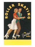 Forties Roller Skating for Youthful Spirits Prints