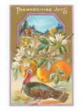 Thanksgiving Joys, Turkey and Apples Posters
