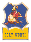 Bronco Rider, Fort Worth, Texas Posters