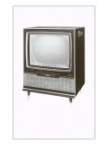 Square Television Set Prints