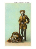 Buffalo Bill with Saddle and Rifle Art
