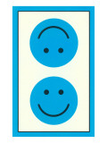 Blue Opposed Happy Faces Poster