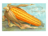 Thanksgiving Greetings, Corn Art