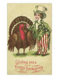 Young Uncle Sam with Turkey Prints