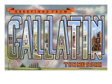 Greetings from Gallatin, Tennessee Prints