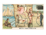 Sailboat, Fisherman, Circus, Penny Farthing Posters