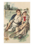 Vintage Tennis Couple Posters