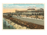 Beach, Crystal Palace, Galveston, Texas Prints