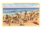 Beach Scene, Galveston, Texas Posters