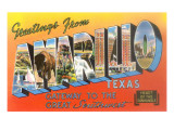 Greetings from Amarillo, Texas Poster