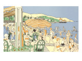 Twenties Beach Scene Posters