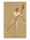 Man with Tennis Racket Photo