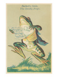 Opera Singing Dandy Frog Prints