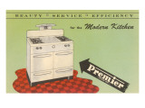 Forties Modern Kitchen Stove Prints
