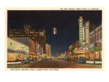 Night, Polk Street, Amarillo, Texas Posters