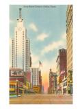 Main Street Canyon, Dallas, Texas Print