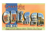 Greetings from Odessa, Texas Posters